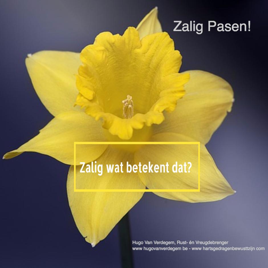 Zalig Pasen, wat is de betekenis van Zalig?